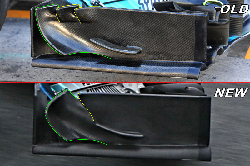 Mercedes F1 W09 detalle ala delantera