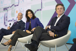 Alejandro Agag, CEO Formula E, with Mayor of Rome Virginia Raggi