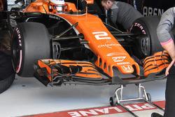 McLaren MCL32: Nase und Frontflügel