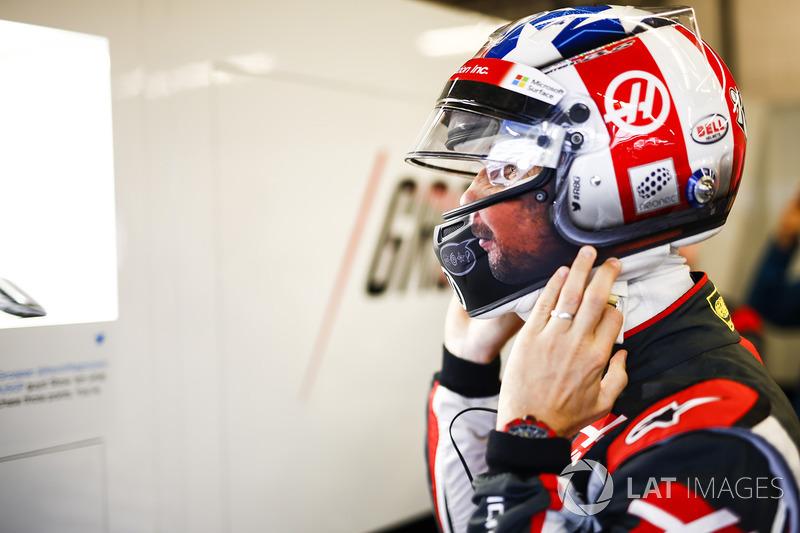 Romain Grosjean, Haas F1 Team, ABD GP kaskı