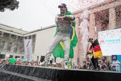 Lucas di Grassi, Audi Sport ABT Schaeffler, deuxième, Andre Lotterer, Techeetah, troisième