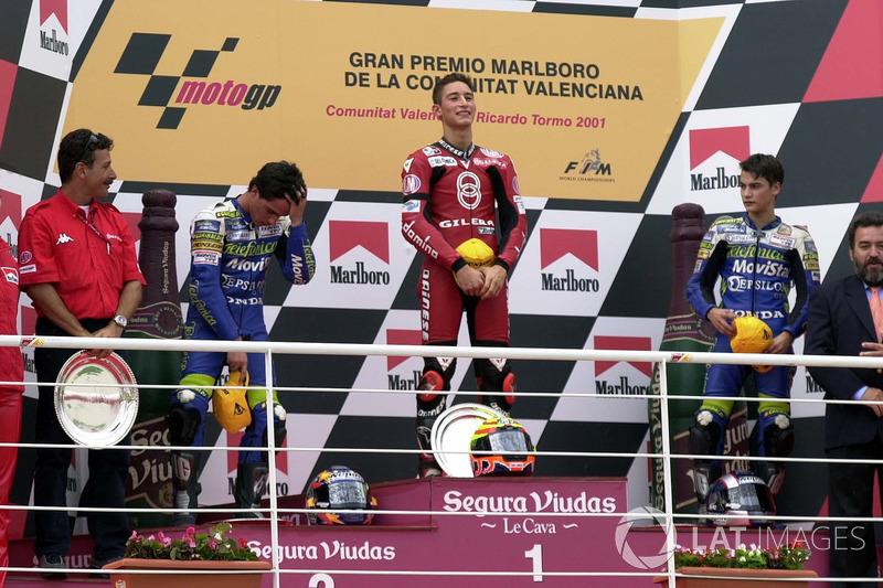 2001: GP de la Comunitat Valenciana, primer podio