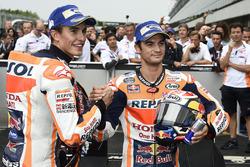 Il vincitore della gara Marc Marquez, Repsol Honda Team, il secondo classificato Dani Pedrosa, Repsol Honda Team