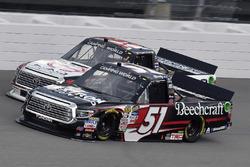 Kyle Busch, Kyle Busch Motorsports Toyota and Ryan Truex, Hattori Racing Enterprises Toyota