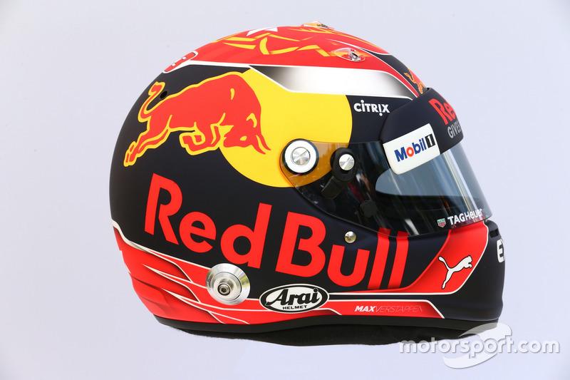 Le casque de Max Verstappen, Red Bull Racing RB13
