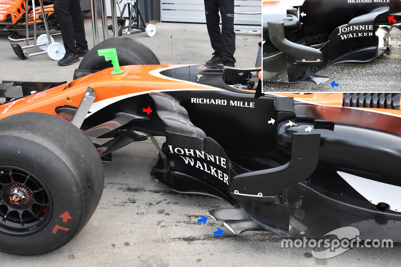 McLaren MCL32, bargeboards
