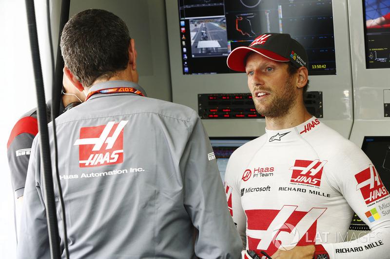 Керівник Haas F1 Team Гюнтер Штайнер, Ромен Грожан, Haas F1 Team