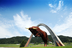 Skulptur am Red-Bull-Ring in Spielberg