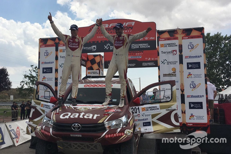 #201 Nasser Al Attiyah, Mathieu Baumel, Toyota Hilux