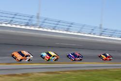 Daniel Suárez, Joe Gibbs Racing Toyota, Kyle Busch, Joe Gibbs Racing Toyota, Denny Hamlin, Joe Gibbs Racing Toyota and Martin Truex Jr., Furniture Row Racing Toyota