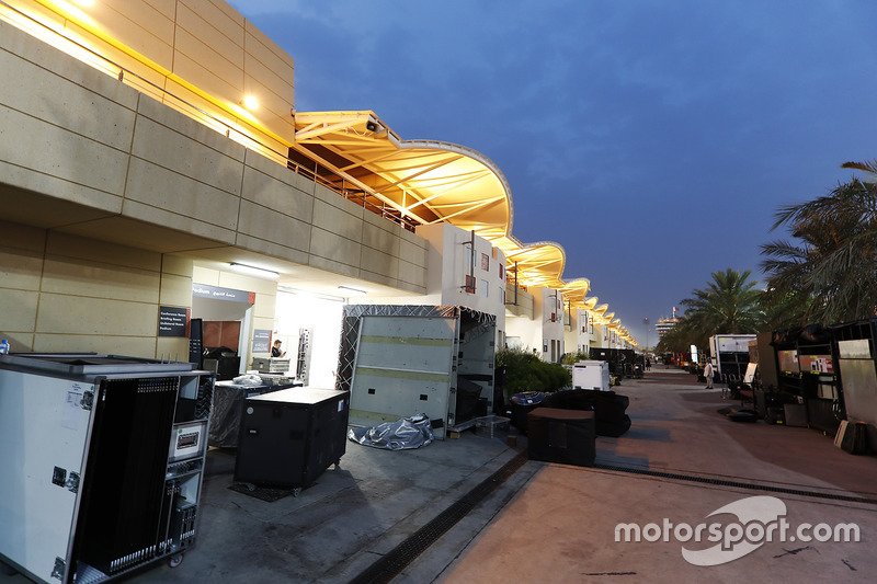 Teams pack equipment at the conclusion of Bahrain's two-day test