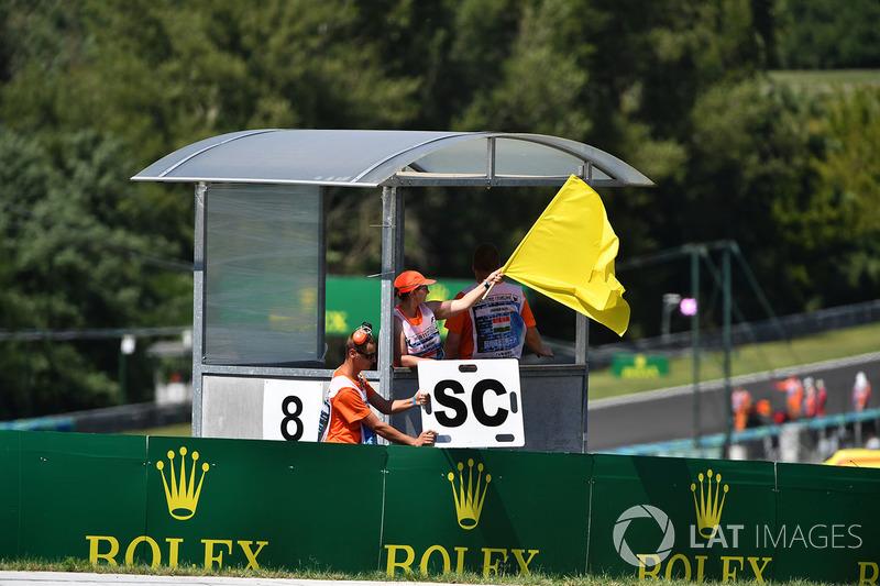 Sarı bayrak ve güvenlik aracı