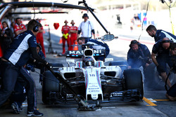 Lance Stroll, Williams FW40 s'arrête aux stands
