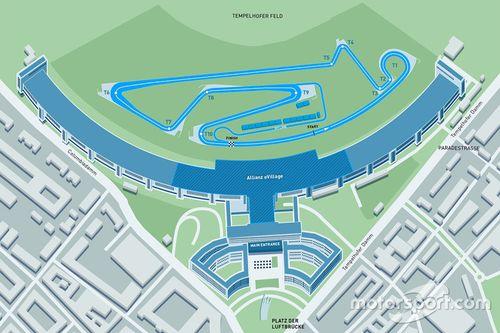Layout pista ePrix Berlino