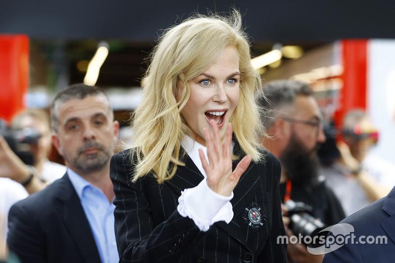 Nicole Kidman visita el Grand Prix de Australia