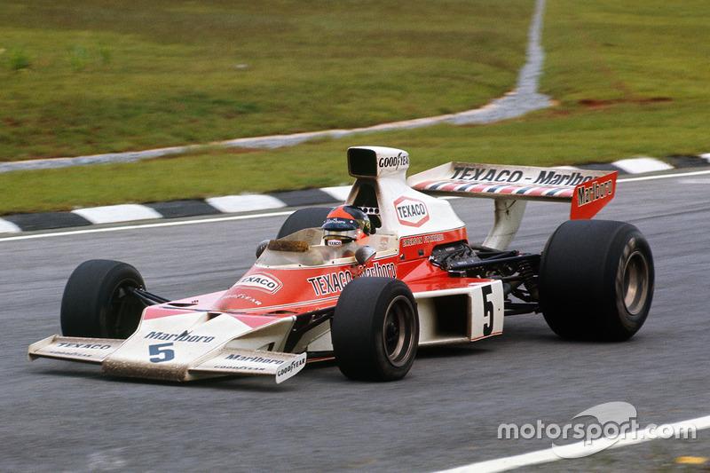 Ganador del GP de Brasil 1974: Emerson Fittipaldi, McLaren M23