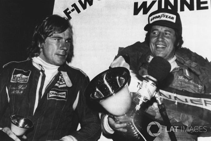 1976: 1. Mario Andretti, 2. Patrick Depaillier, 3. James Hunt