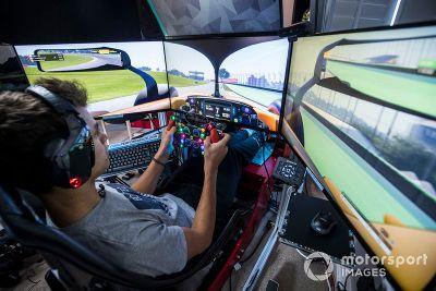 Lando Norris home simulator