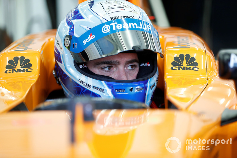 Jimmie Johnson dans la McLaren