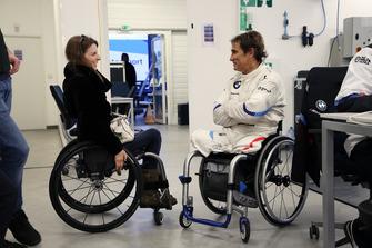Nathalie McGloin, Comisión de Discapacidad y Accesibilidad de la FIA y Alex Zanardi, BMW M8 GTE