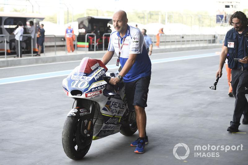 Мотоцикл Хав'єра Сімеона, Avintia Racing, після аварії