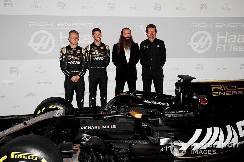 Ромен Грожан, Haas F1 Team, Кевін Магнуссен, Haas F1 Team, керівник Haas F1 Гюнтер Штайнер, генеральний директор Rich Energy Вільям Сторі