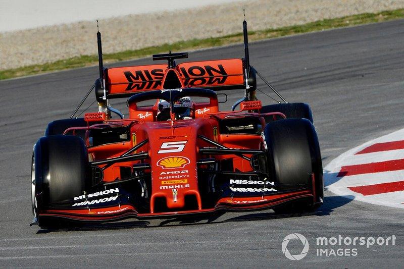 Ferrari SF90 with aero sensors on rear wing