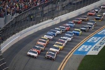 Denny Hamlin, Joe Gibbs Racing, Toyota Camry FedEx Express, Kyle Busch, Joe Gibbs Racing, Toyota Camry M&M's Chocolate Bar
