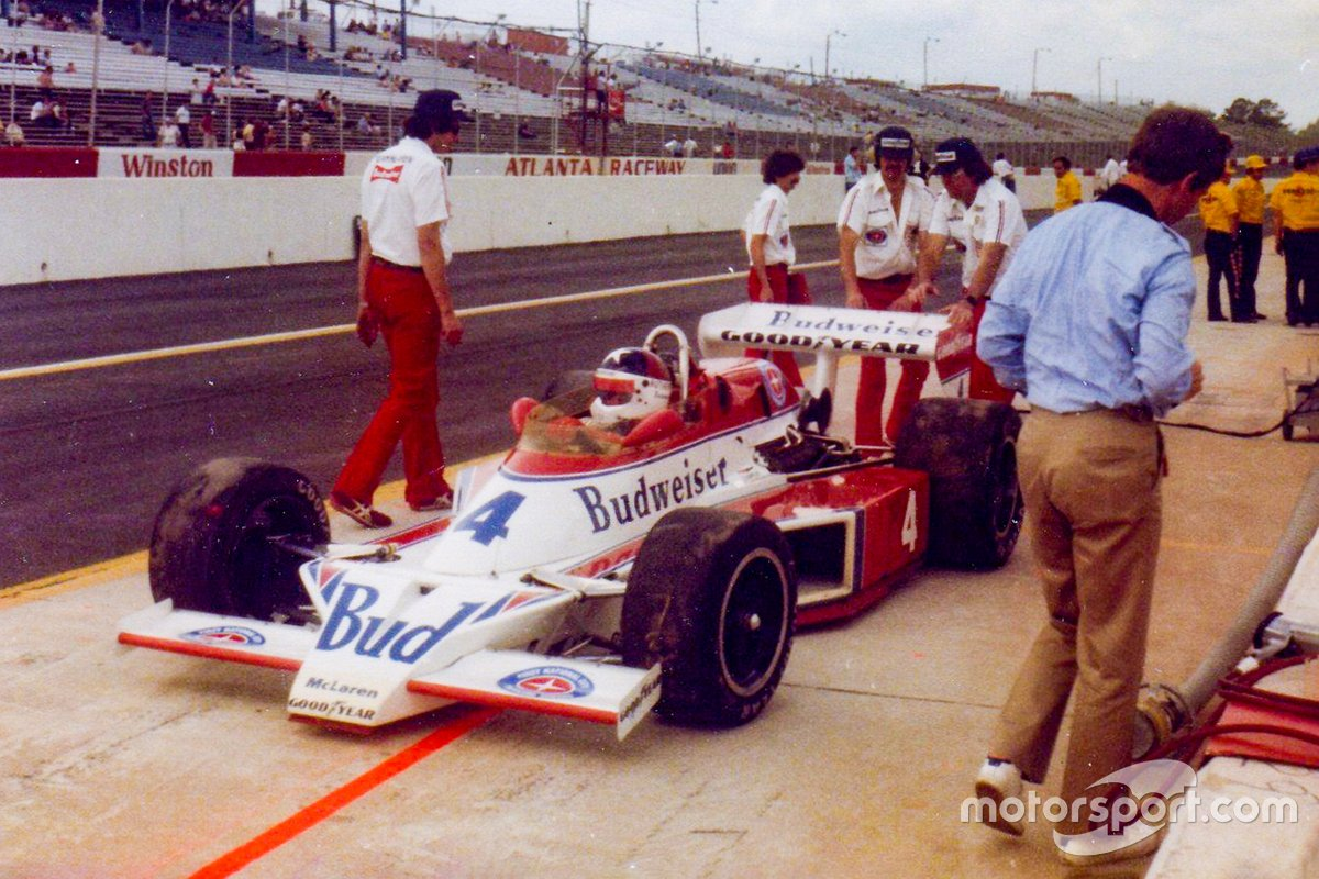 The 1979 Budweiser scheme is shown here at Atlanta Raceway where Rutherford won both races in a double-header. They were the most recent McLaren Indy car victories – but we predict they won't be the last...