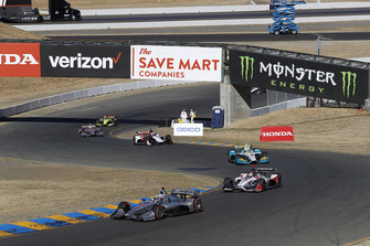 Джозеф Ньюгарден, Team Penske Chevrolet, и Марко Андретти, Andretti Autosport Honda