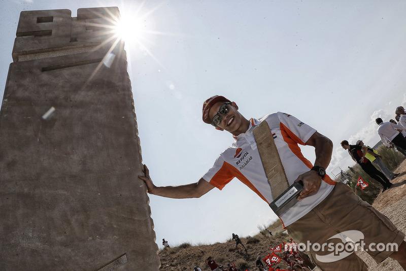 Vorstellung der Marc-Marquez-Kurve im Motorland Aragon