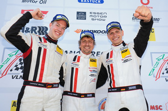 Podium: #11 Wochenspiegel Team Monschau Ferrari 488 GT3: Leonard Weiss, Christian Menzel, Nico Menzel