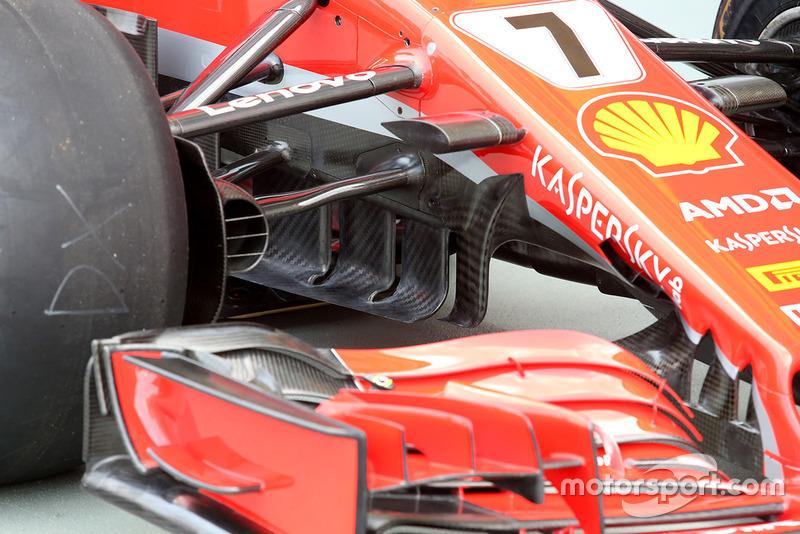 Des aubes directrices de Ferrari SF71H