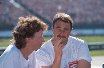 Ganador Nigel Mansell y su esposa Roseanne