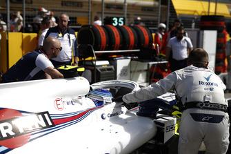 Sergey Sirotkin, Williams FW41, arriva in griglia di partenza