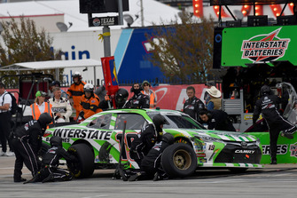 Brandon Jones, Joe Gibbs Racing, Toyota Camry Interstate Batteries, makes a pit stop