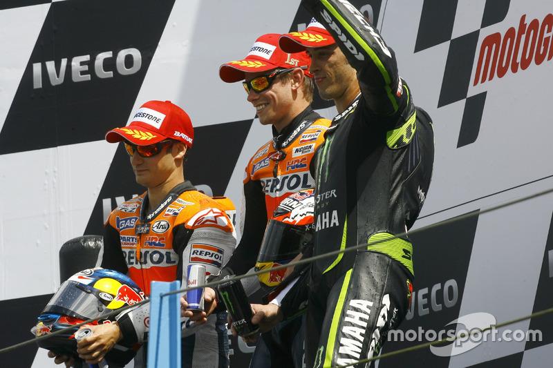 2012: 1. Casey Stoner, 2. Dani Pedrosa, 3. Andrea Dovizioso