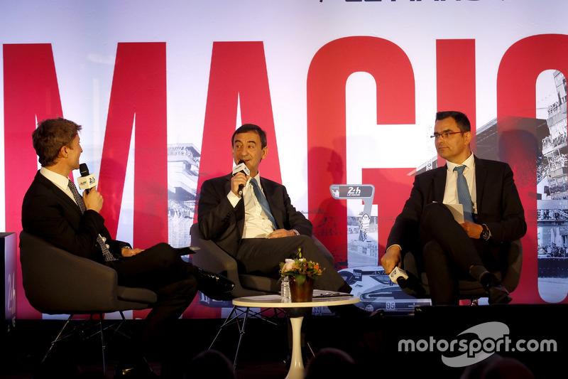 Conferencia de prensa de la ACO: Pierre Fillon, ACO Presidente de la ACO y Frederic Lenart, Director