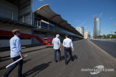 Officieel bezoek FIA Delegatie Baku City Circuit