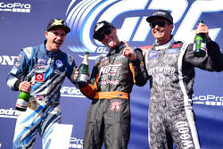Podium: winner Brian Deegan, Ford, second place Scott Speed, Andretti Autosport, third place Patrik