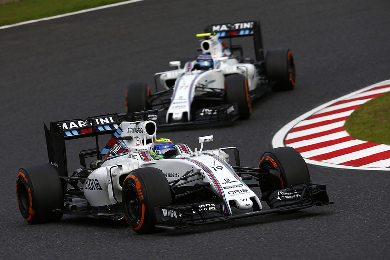 Felipe Massa, Williams FW38, Valtteri Bottas, Williams FW38