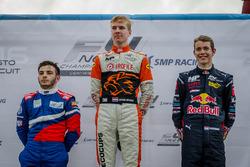 Racewinnaar Jarno Opmeer, MP Motorsport; tweede plaats Nerses Isaakyan, Koiranen GP; derde plaats Richard Verschoor, MP Motorsport