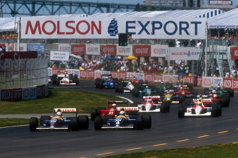 Nigel Mansell, Williams Renault FW14 et Riccardo Patrese,  Williams Renault FW14