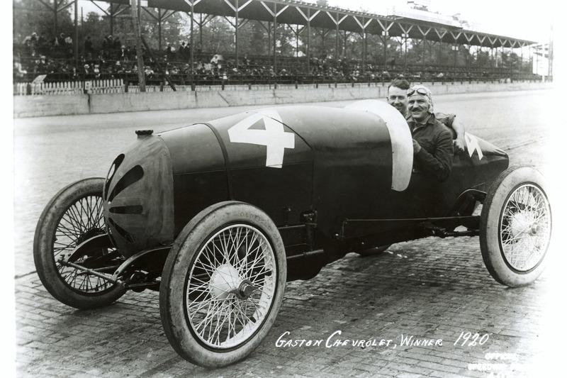 Le vainqueur Gaston Chevrolet, Frontenac