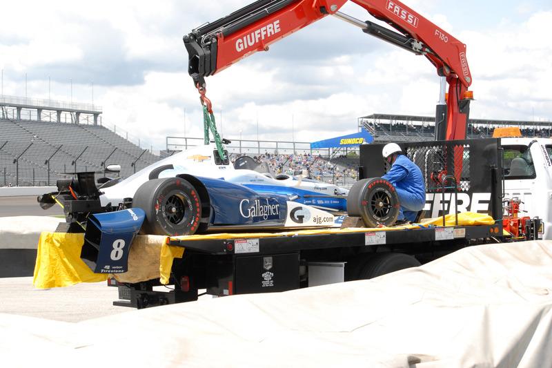 Das Auto von Max Chilton, Chip Ganassi Racing Chevrolet, nach Crash