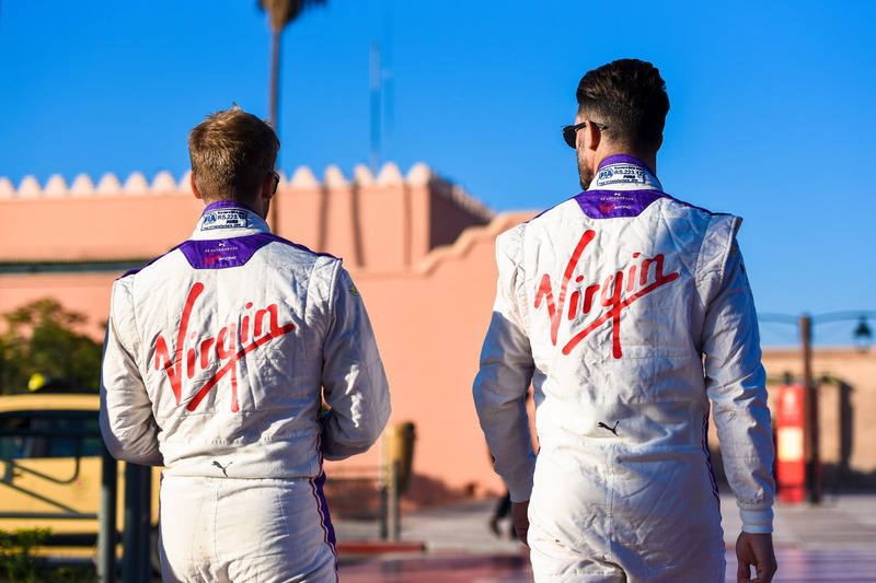 Jose Maria Lopez, DS Virgin Racing and Sam Bird, DS Virgin Racing