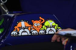 Les logos chiens de Valentino Rossi, Yamaha Factory Racing
