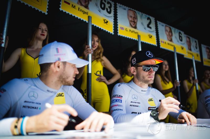 Maro Engel, Mercedes-AMG Team HWA, Mercedes-AMG C63 DTM, Edoardo Mortara, Mercedes-AMG Team HWA, Mer