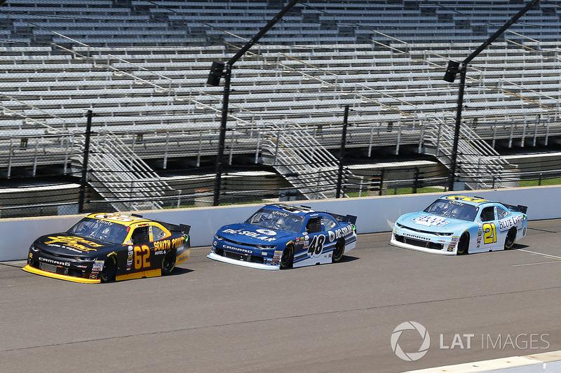 Brendan Gaughan, Richard Childress Racing Chevrolet, Brennan Poole, Chip Ganassi Racing Chevrolet and Daniel Hemric, Richard Childress Racing Chevrolet