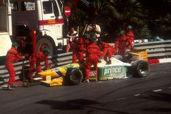 Michael Schumacher, Benetton B193B Ford, fuori dalla pista
